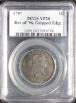 1797 1C Rev of '95, Gripped Edge VF20BN PCGS