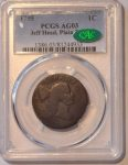 1795 1C Jeff Head, Plain Edge AG3BN PCGS