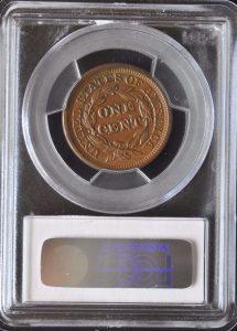 1847 1C MS63BN PCGS