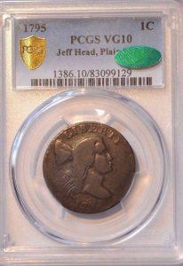 1795 1C Jeff Head, Plain Edge VG10BN PCGS