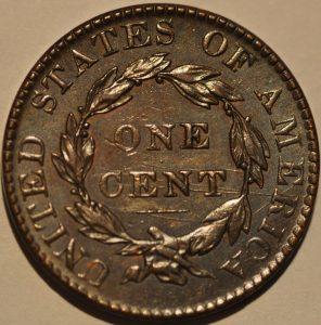 1823/2 1C CORONET HEAD OVER DATE  N-1 R2+  RARE IN GRADE AU