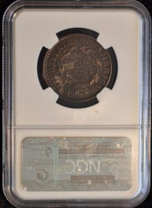 1816 1C CORONET HEAD N-3 R4 XF DETAILS NGC MERVIS COLLECTION. TOUGH VARIETY