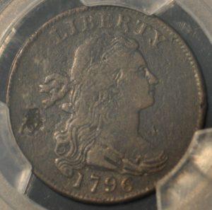 1796 1C Draped, Reverse of 1797 98BN PCGS