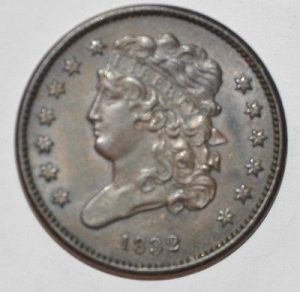1832 1/2 CENT CLASSIC HEAD C-1 R2 NICE EXAMPLE OF TYPE OR VARIETY