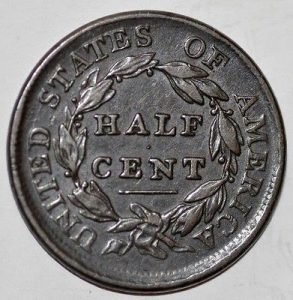 1809 1/2 CENT DRAPED BUST C-2 R3 CLOSE 09. GREAT SURFACES AND COLOR