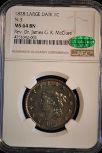 1828-1C-CORONET-HEAD-N-3-LARGE-CENT-LARGE-DATE-MS64-NGC-CAC