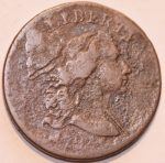 1794 1c LIBERTY CAP S-24 LDS APPLE CHEEK REVERSE CUD BREEN / PLATE COIN. Ex Heck