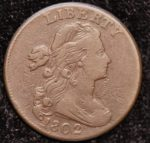 1802 1C DRAPED BUST S-237 VF VERY NICE SURFACES. CHOICE FOR COLOR AND GRADE