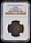 1795 1C JEFFERSON HEAD S-80 VG 10 NGC GRADED